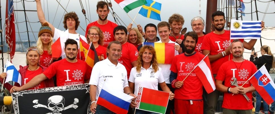 Most International Crew Sailing Ship Atyla Join Many Countries Flags Intercultural Experience Europe Worldwide World
