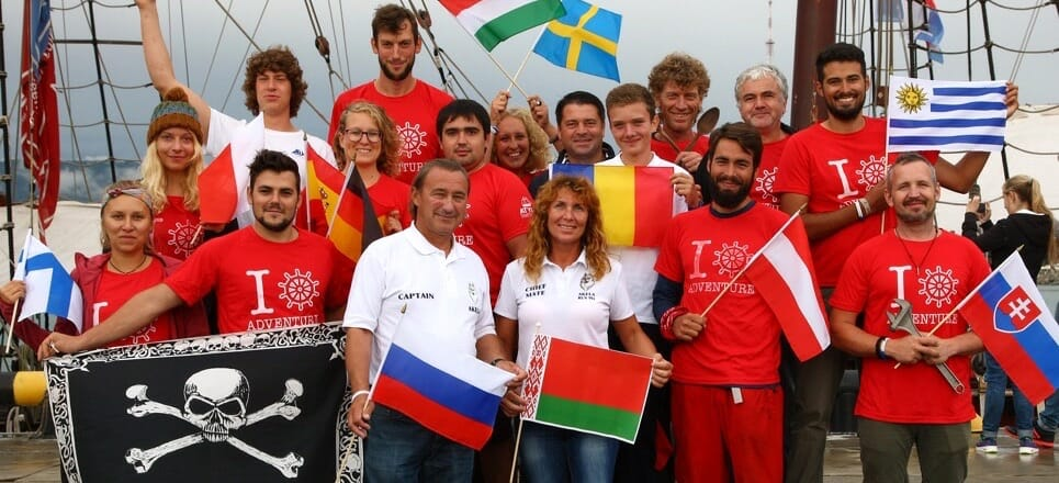 Most International Crew Sailing Ship Atyla Join Many Countries Flags Intercultural Experience Europe Worldwide